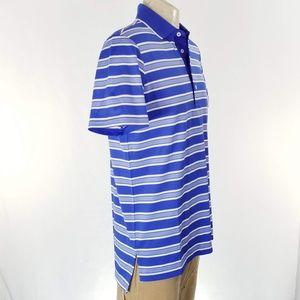 RLX Ralph Lauren Shirts - RLX Ralph Lauren Blue Stripe Polo Shirt